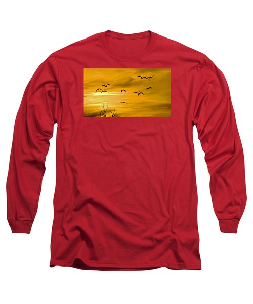 Sunset Fliers Long Sleeve T-Shirt by Wanda Krack