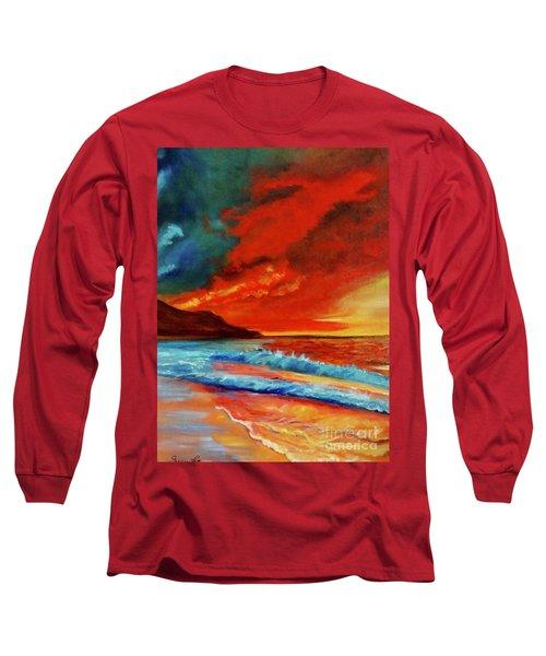 Sunset Hawaii Long Sleeve T-Shirt by Jenny Lee
