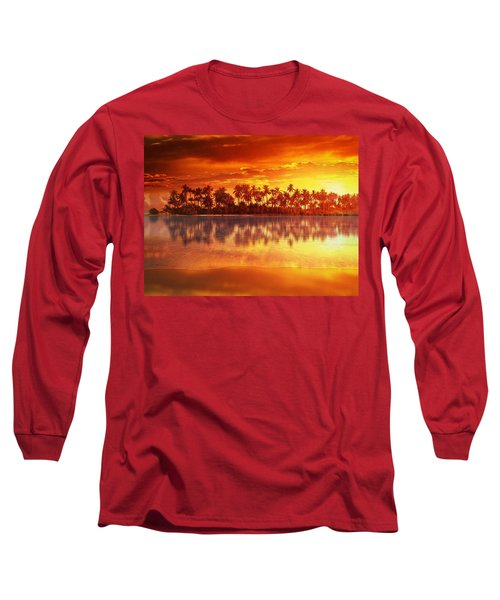 Sunset In Paradise Long Sleeve T-Shirt by Gabriella Weninger - David