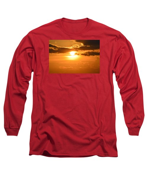 Long Sleeve T-Shirt featuring the photograph Sunset In The Clouds  by Lyle Crump
