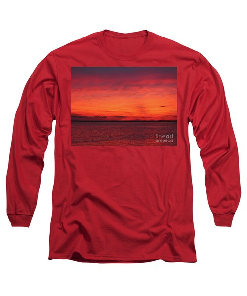 Sunset On Jersey Shore Long Sleeve T-Shirt