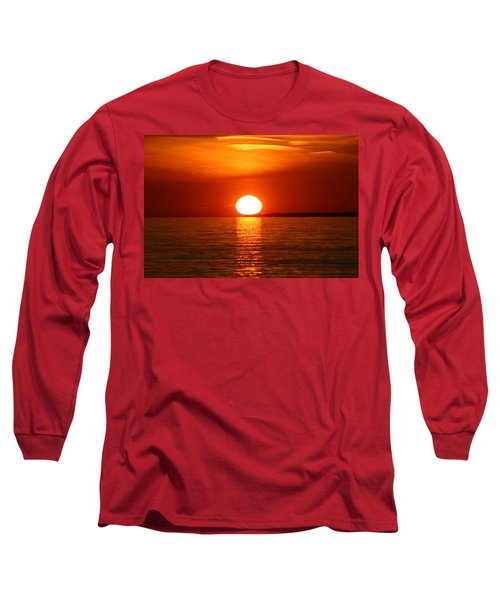 Long Sleeve T-Shirt featuring the photograph Sunset On Superior by Paula Brown