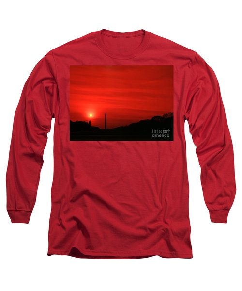 Sunset On The National Mall Washington Dc Long Sleeve T-Shirt