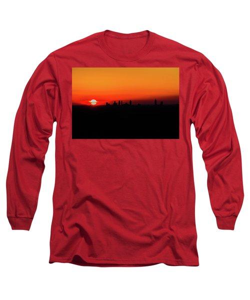 Sunset Over Atlanta Long Sleeve T-Shirt