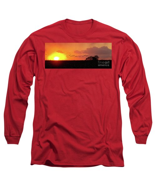 Sunset Over Easy Long Sleeve T-Shirt by Sue Stefanowicz