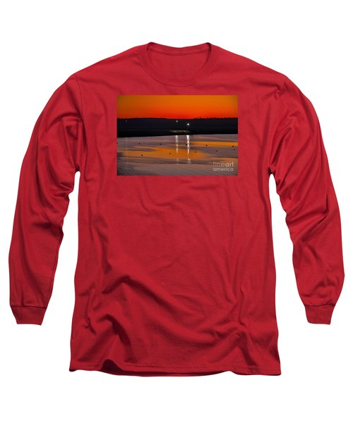 Long Sleeve T-Shirt featuring the photograph Sunset Over Lake Texoma by Diana Mary Sharpton