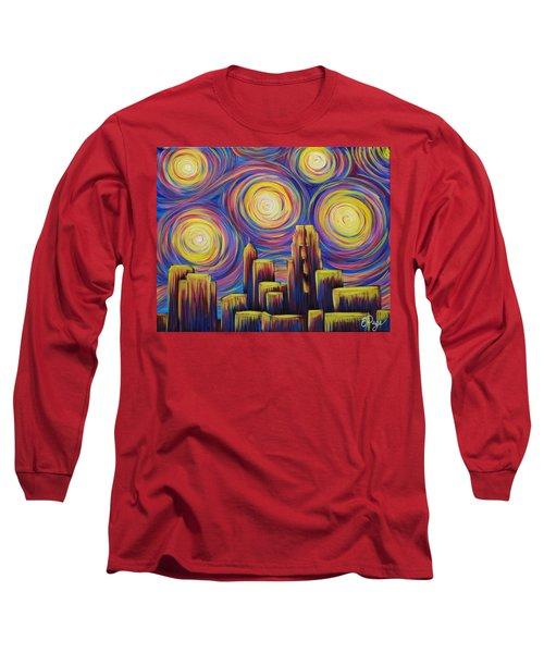 Sunset Over Raleigh Long Sleeve T-Shirt