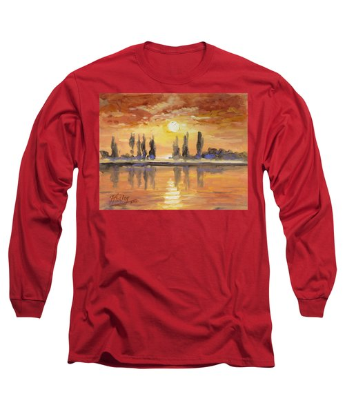 Sunset Over The Lake Long Sleeve T-Shirt by Irek Szelag