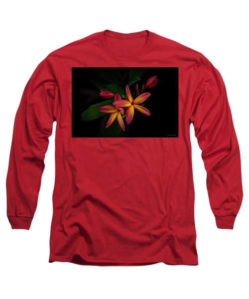 Sunset Plumerias In Bloom #2 Long Sleeve T-Shirt