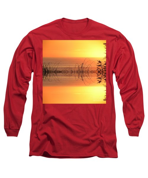 Sunset Reflection Long Sleeve T-Shirt by Sheila Ping