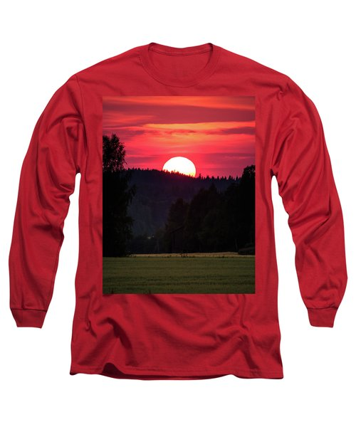 Sunset Scenery Long Sleeve T-Shirt by Teemu Tretjakov
