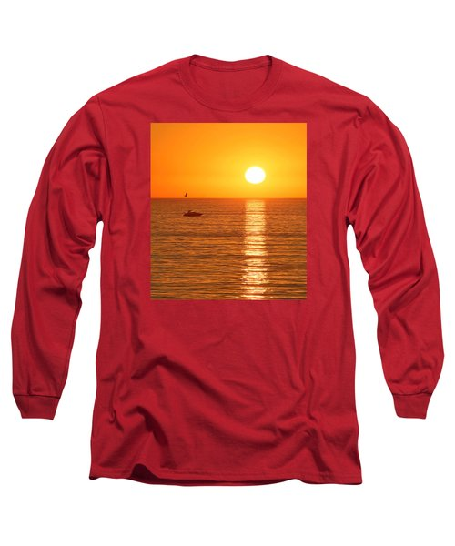 Sunset Solitude Long Sleeve T-Shirt by Ed Clark