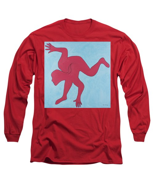 Long Sleeve T-Shirt featuring the painting Sunset Surfer by Ben Gertsberg