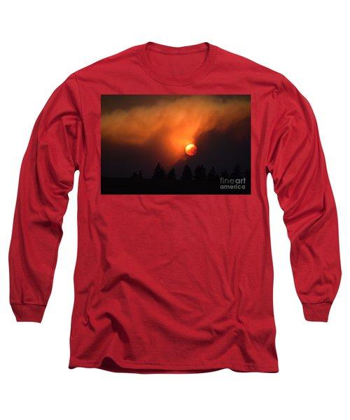 Sunset Through Smoke Long Sleeve T-Shirt