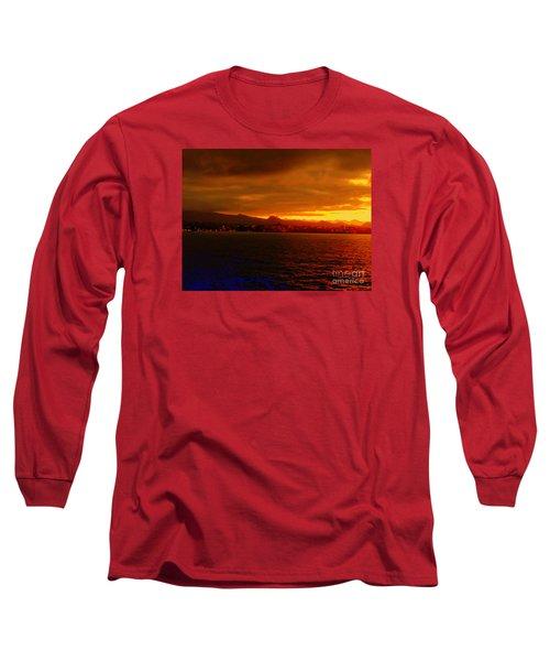Sunset West Africa Long Sleeve T-Shirt by John Potts