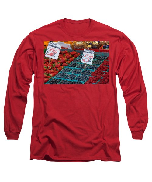 Super Sweet Blueberries Long Sleeve T-Shirt