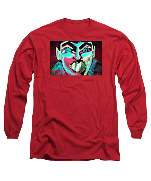Long Sleeve T-Shirt featuring the painting Super Tillie by Patricia Arroyo