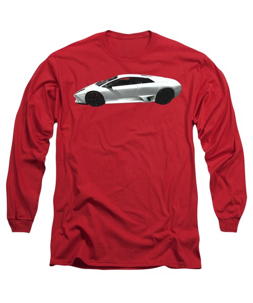 Supercar In White Art Long Sleeve T-Shirt