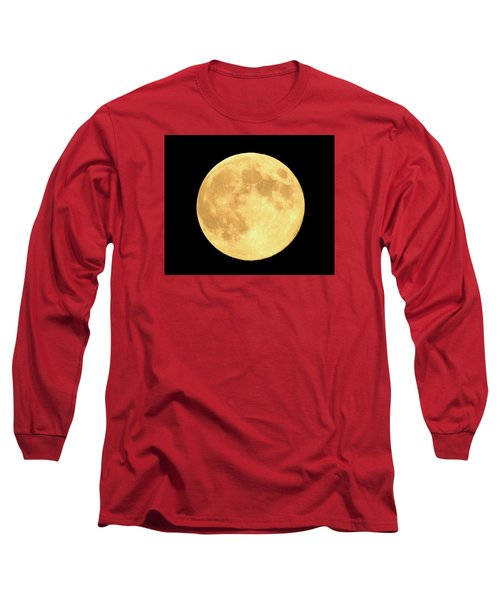 Supermoon Full Moon Long Sleeve T-Shirt by Kyle West