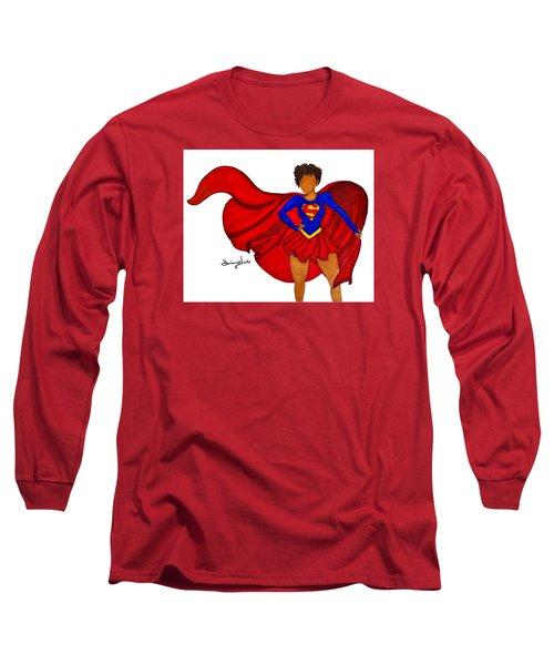 Superwoman I Am  Long Sleeve T-Shirt by Diamin Nicole