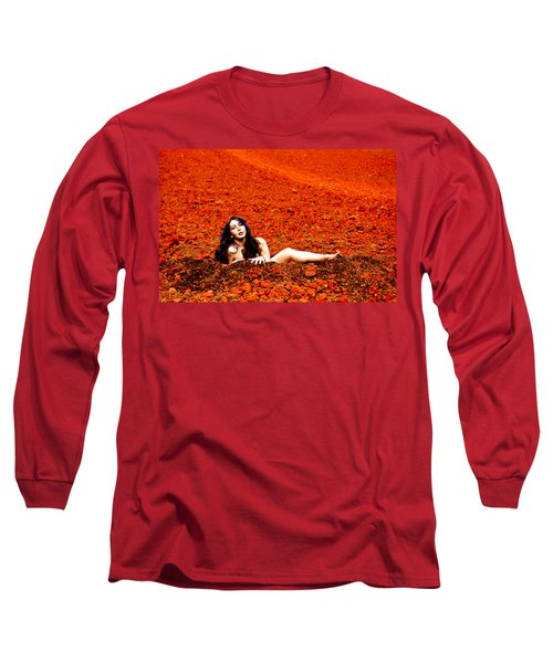 Surprised Martian Hatching Long Sleeve T-Shirt