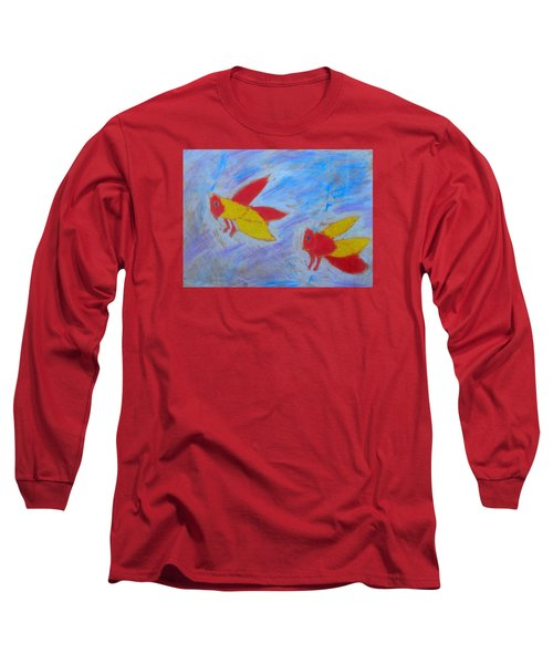 Long Sleeve T-Shirt featuring the painting Swarming Bees by Artists With Autism Inc