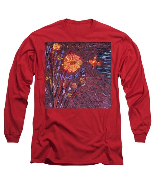 Sweet Flower Long Sleeve T-Shirt by Vadim Levin