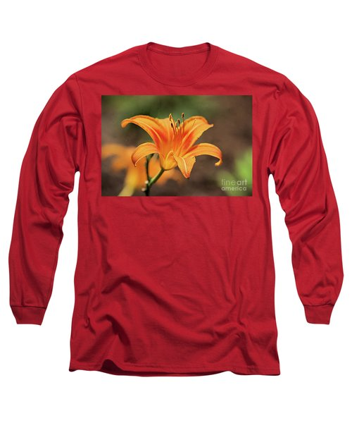 Sweet Lilly In Orange Long Sleeve T-Shirt
