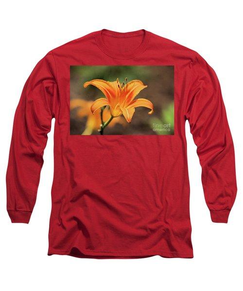 Sweet Lilly In Orange Long Sleeve T-Shirt