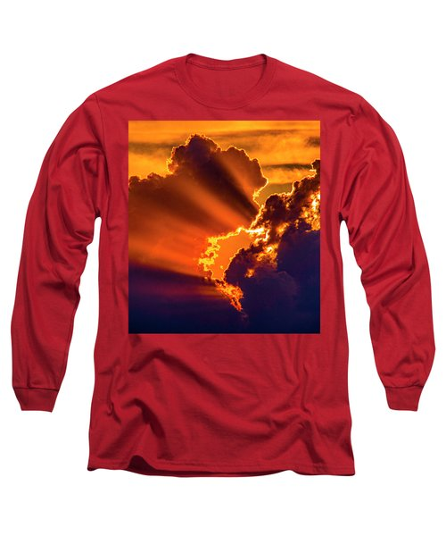 Sweet Nebraska Crepuscular Rays 010 Long Sleeve T-Shirt