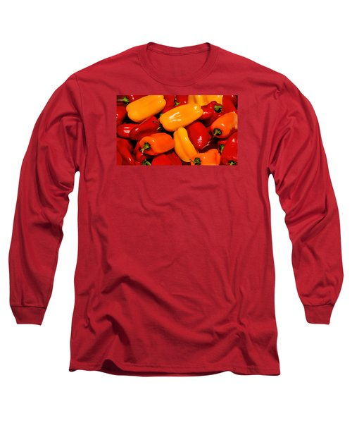 Sweet Peppers Long Sleeve T-Shirt by Pat Cook