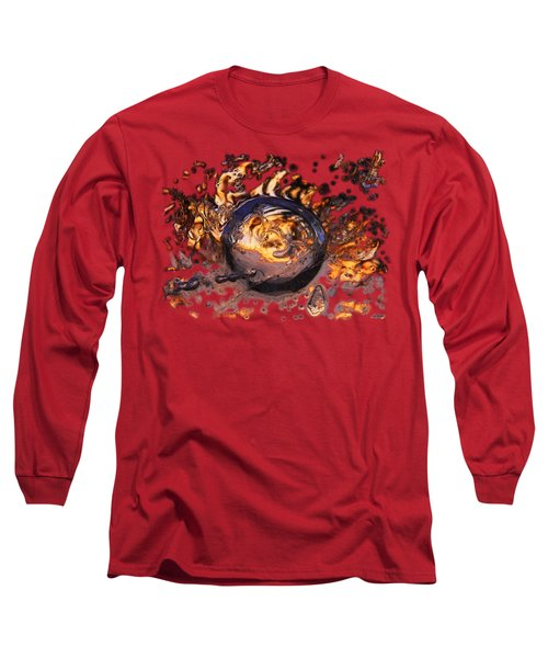 Swirly Gateway Long Sleeve T-Shirt by Sami Tiainen