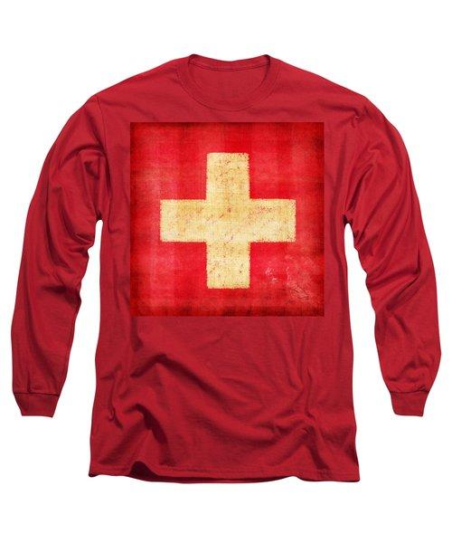Switzerland Flag Long Sleeve T-Shirt by Setsiri Silapasuwanchai