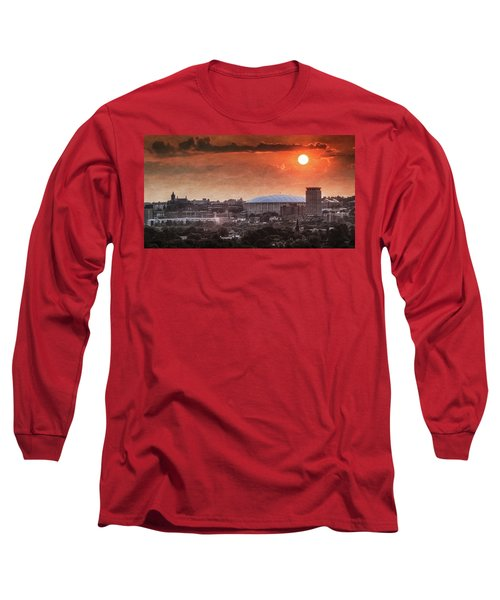 Syracuse Sunrise Over The Dome Long Sleeve T-Shirt by Everet Regal