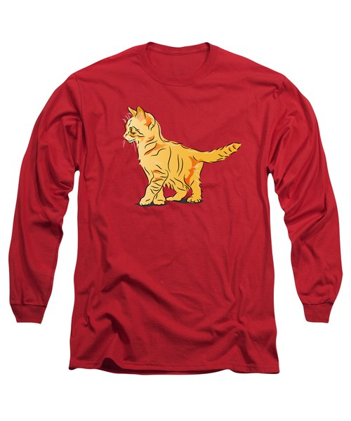 Tabby Kitten Long Sleeve T-Shirt by MM Anderson