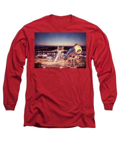 Long Sleeve T-Shirt featuring the photograph Take A Look At Paris by Hannes Cmarits