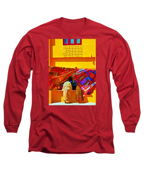 Long Sleeve T-Shirt featuring the photograph Tamil Nadu Shop by Dennis Cox WorldViews