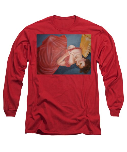 Long Sleeve T-Shirt featuring the painting Tammy by Bryan Bustard