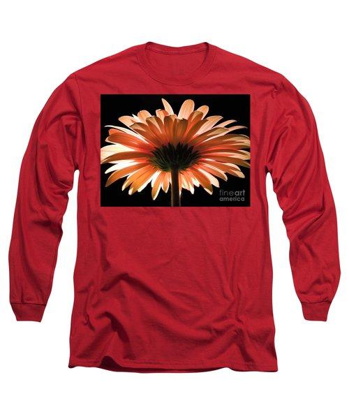 Tangerine Gerber Daisy Long Sleeve T-Shirt