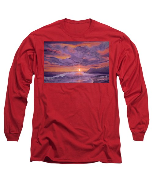 Tangerine Sky Long Sleeve T-Shirt by Holly Martinson