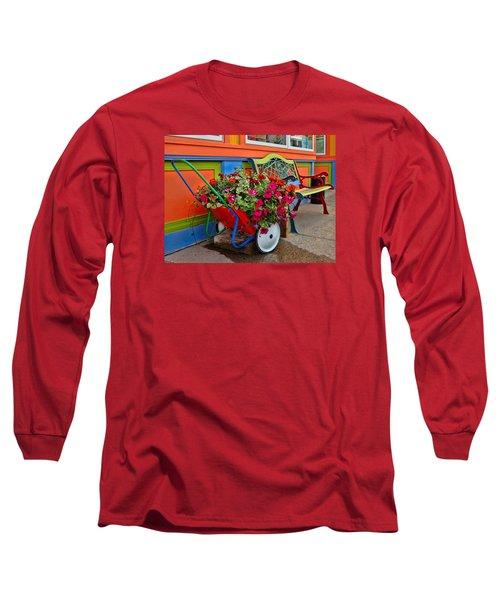 Long Sleeve T-Shirt featuring the photograph Tannersville Color Blast by Nancy De Flon
