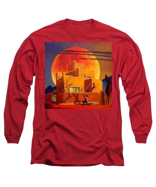 Taos Wolf Moon Long Sleeve T-Shirt