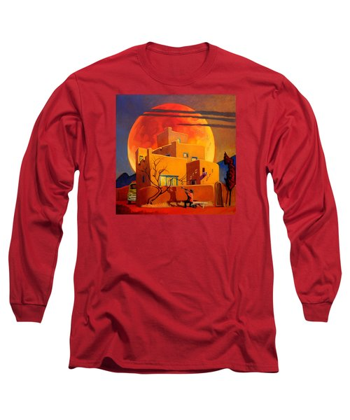 Taos Wolf Moon Long Sleeve T-Shirt
