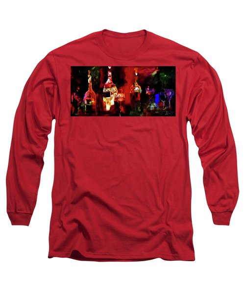 Long Sleeve T-Shirt featuring the painting Taste Of Wine by Lisa Kaiser