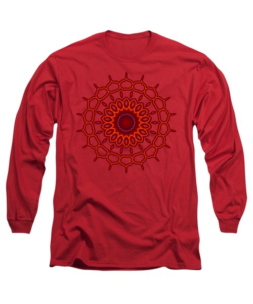 Teardrop Fractal Mandala Long Sleeve T-Shirt