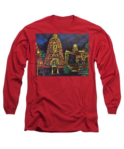 Temple Lights In The Night Long Sleeve T-Shirt