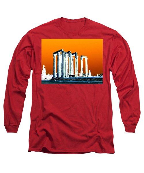 Temple Of Zeus, Athens Long Sleeve T-Shirt by Karen J Shine