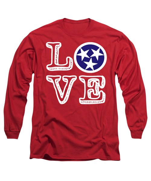 Tennessee Flag Love Long Sleeve T-Shirt