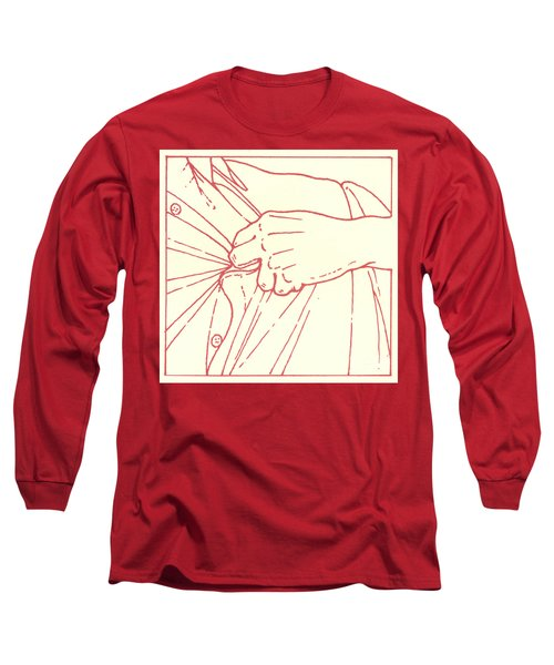 Long Sleeve T-Shirt featuring the drawing Tenth Station- Jesus Is Stripped Of His Garments by William Hart McNichols