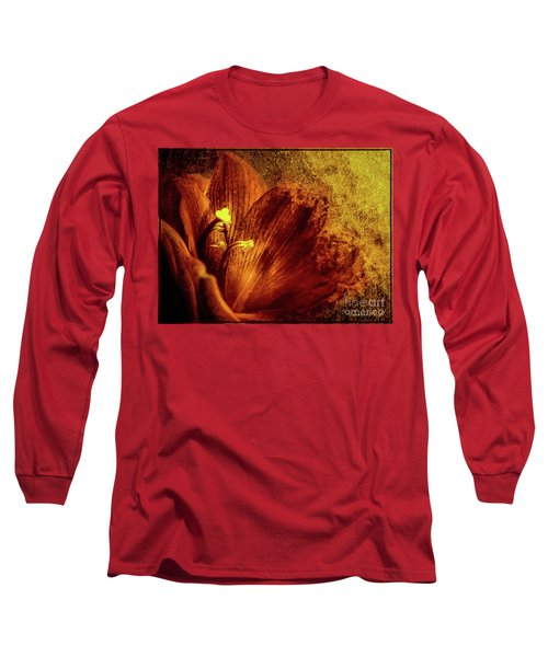 Terracotta Orange Hyperastrum Long Sleeve T-Shirt
